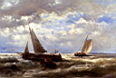 Oil painting reproduction of A Windy Day